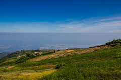 Mountain with the sky at Phu Thap Boek in Phetchabun. Royalty Free Stock Images