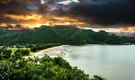 Mountain Sky Sea Sea bay royalty free stock photography