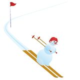 Mountain slalom Royalty Free Stock Photography