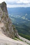 Mountain slope. A mountain slope in Piatra Craiului Mountains, Romania Stock Photo
