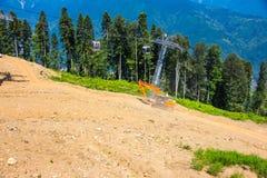 Mountain slope, Krasnaya Polyana, Sochi, Russia Stock Images