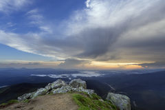 Mountain Slope In Summer At Evening Stock Image