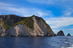 Mountain slope in Zakynthos island, Greece Royalty Free Stock Images