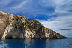 Mountain slope in Zakynthos island, Greece Stock Photography