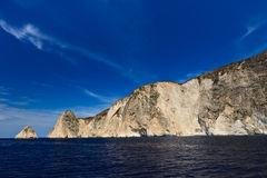 Mountain slope in Zakynthos island, Greece Stock Photos