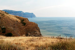 Mountain slopes of the Bay of Balaklava Stock Photo