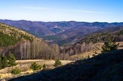 Mountain slopes in early spring, mount Stolovi Stock Photography