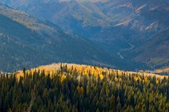 Mountain slopes in Fall Royalty Free Stock Photography