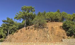 Mountain slopes, Troodos royalty free stock photos