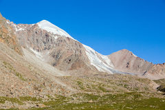 Mountain and small glacier. Tien Shan Royalty Free Stock Photos
