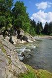 Mountain small river. Stock Photos