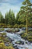 Mountain small river Stock Photos