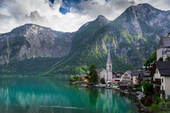 Mountain and small village Royalty Free Stock Photography