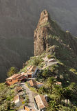 Mountain. Small village on the top of the mountain in tenerife Stock Image