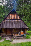 Mountain smokehouse in the village Stock Image