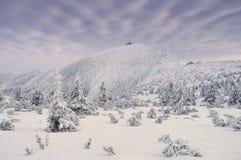 Mountain Sniezka in winter Stock Photo