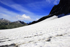 Mountain with snow. A Mountain with snow in the Alps Stock Photography