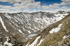Mountain with snow stock image