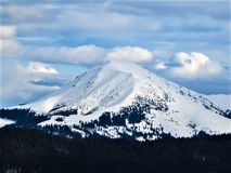Mountain in the snow Royalty Free Stock Photos