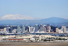 Mountain Snow Above San Diego Royalty Free Stock Images