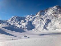 Mountain with snow. Landscape close Matterhorn in Switzerland Stock Image