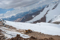 The mountain and snow, landscpae view on Leh, India Stock Images