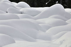 Mountain Snow Moguls Royalty Free Stock Photography