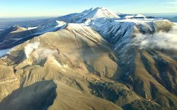 Tongariro national park nz aerial view royalty free stock photography