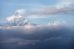 Mountain snow peak cloudy cover Royalty Free Stock Image