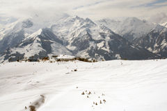 Mountain snow scenery Austria Stock Image