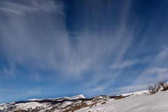 Mountain snow sky clouds winter Royalty Free Stock Image