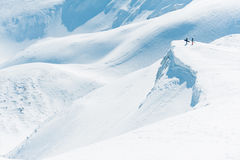 Mountain snow snowboard Stock Images