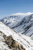 Mountain and snow to nubra valley, Leh Royalty Free Stock Images