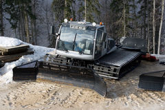 A mountain snow tracktor Royalty Free Stock Image
