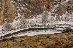Mountain snow valley winter canyon Royalty Free Stock Photography