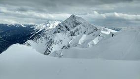 Mountain with snow Royalty Free Stock Photos