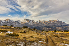 Mountain Without Snow in Winter Stock Image