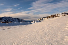 Mountain snow winter sky Royalty Free Stock Images