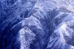 Tianshan Mountain snow. Mountain snow XinJiang China shadow Stock Photos