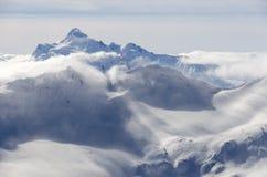 Mountain snowstorm Stock Photo