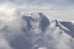 Mountain snowstorm Royalty Free Stock Photos