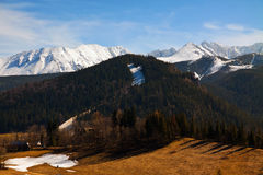Mountain snowy landscape horizon Royalty Free Stock Photography