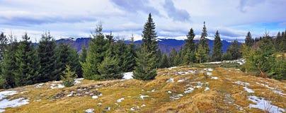 Mountain snowy peak Stock Photo