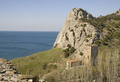 Mountain Sokol (Falcon) in the Crimea Royalty Free Stock Image
