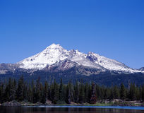 Mountain South Sister from Sparks Lake, Oregon royalty free stock photo