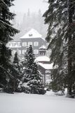 Mountain Spa Karlova Studanka, Czech republic stock photography