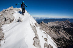 Mountain speed climbing Stock Photo