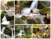 Mountain spring collage stock photo