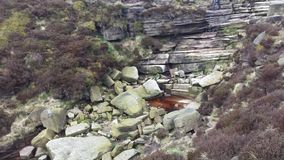 Mountain Spring at Kinder Scout Mountain. Picture taken from a hike to Kinder Scout royalty free stock photography