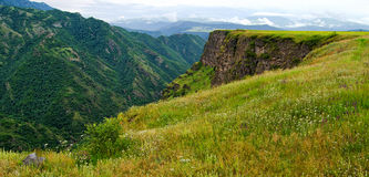 Mountain spring in mountains of Armenia Stock Images